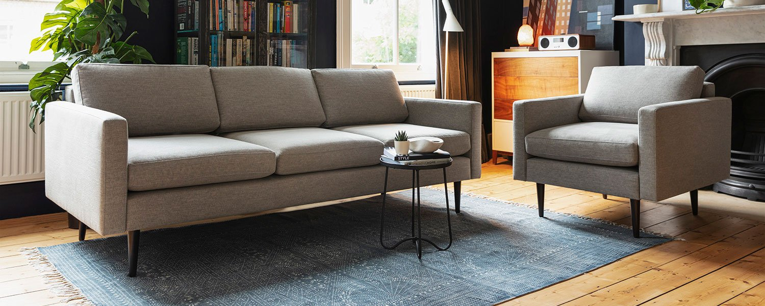 Model 01 3 Seater sofa and Armchair