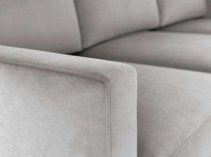 Close up of Model 01 Sofa Arm and Cushions