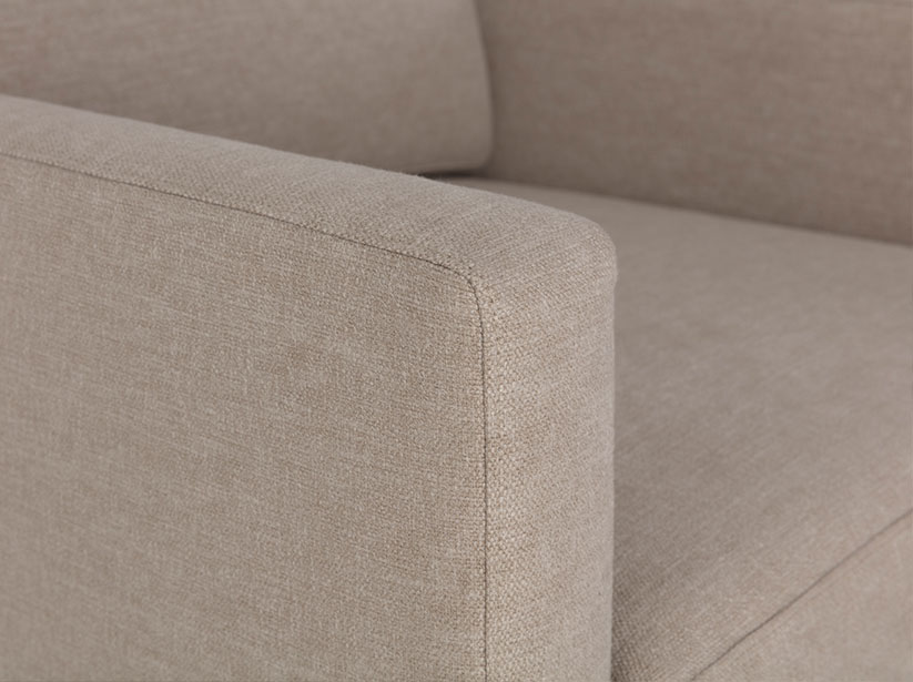 Close up of Model 01 arm and cushions
