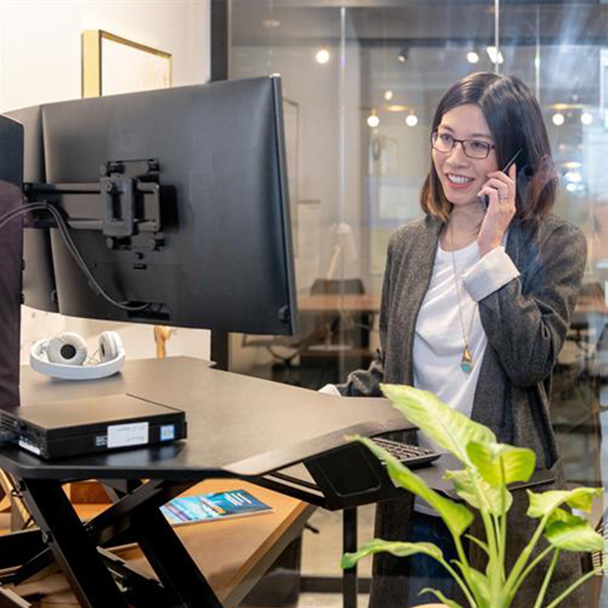 Ergotron WorkFit Corner Standing Desk Converter