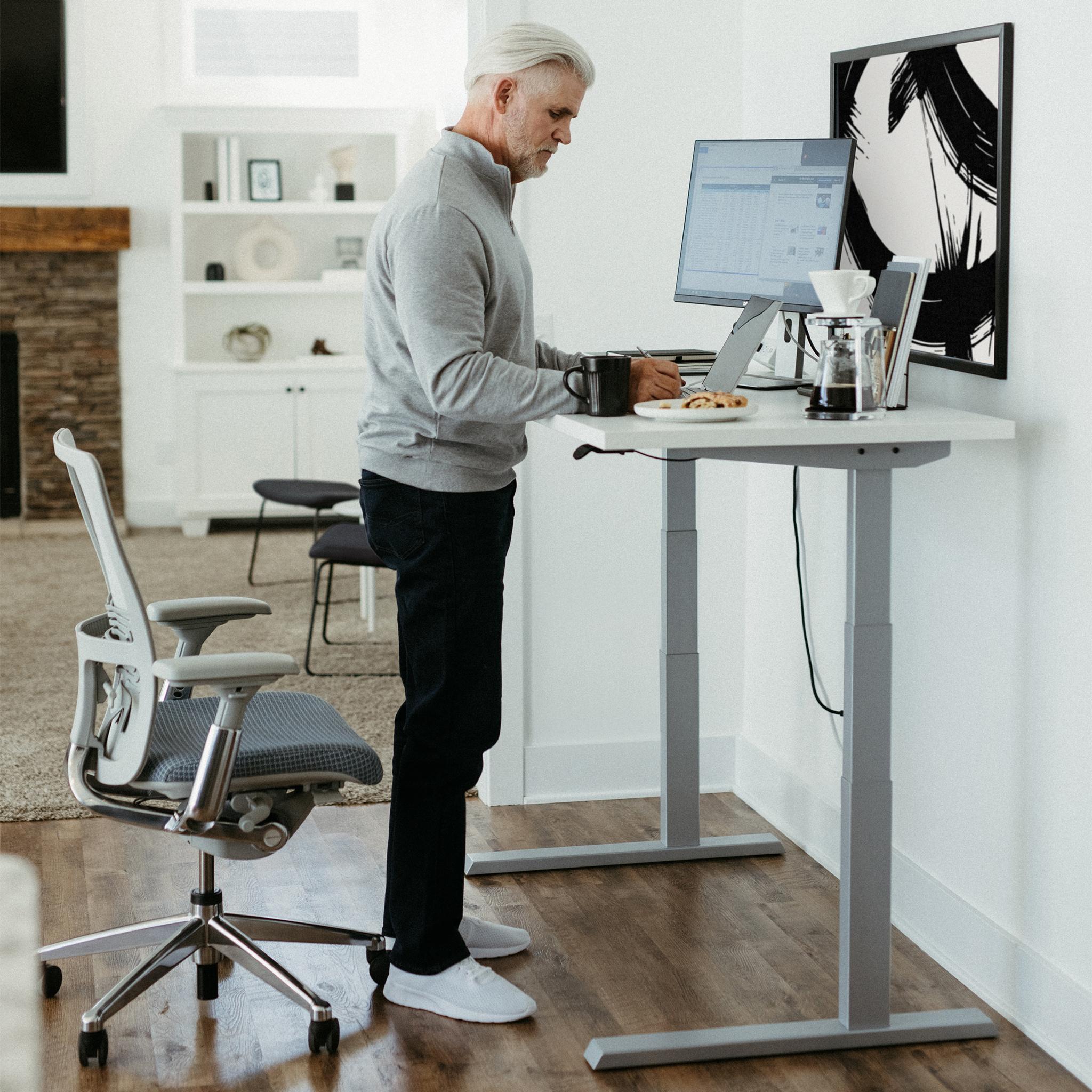 Upside Sit-to-Stand Desk, Extended Range