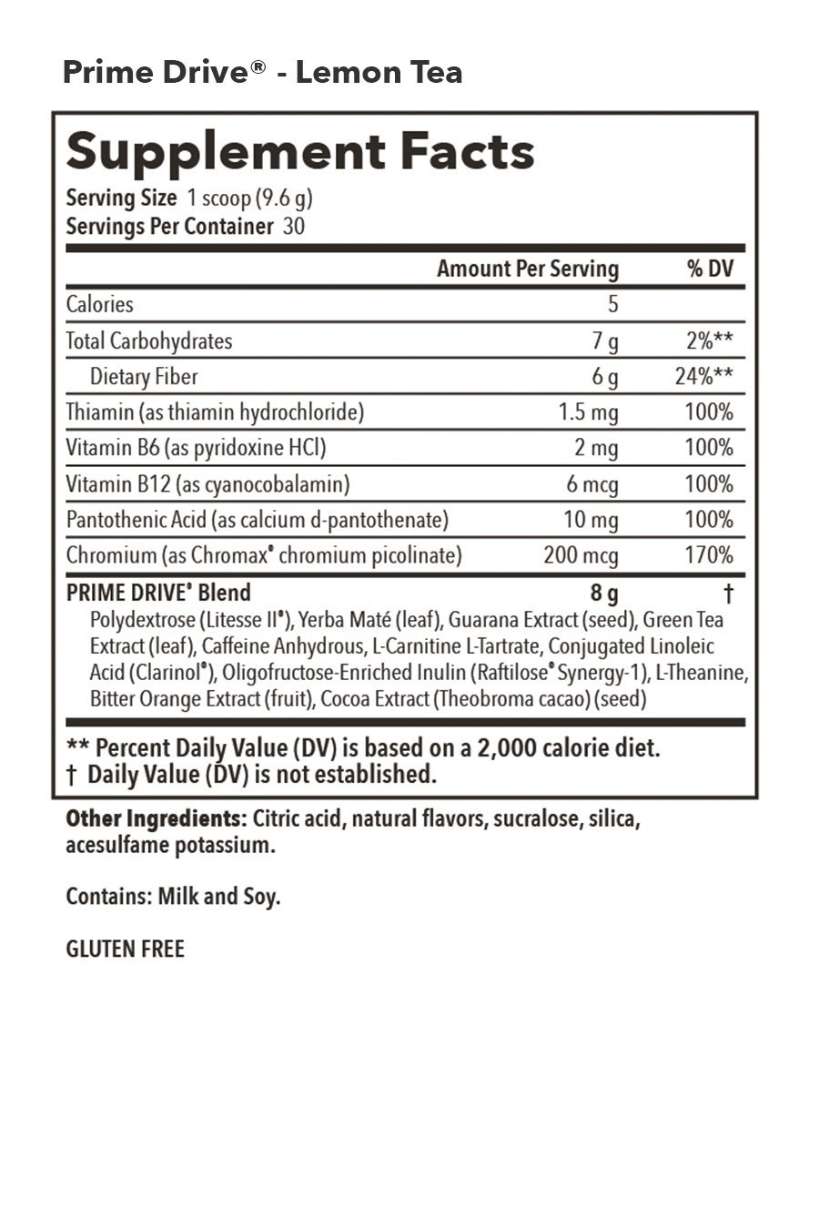 Nutrition Ings Prime Drive