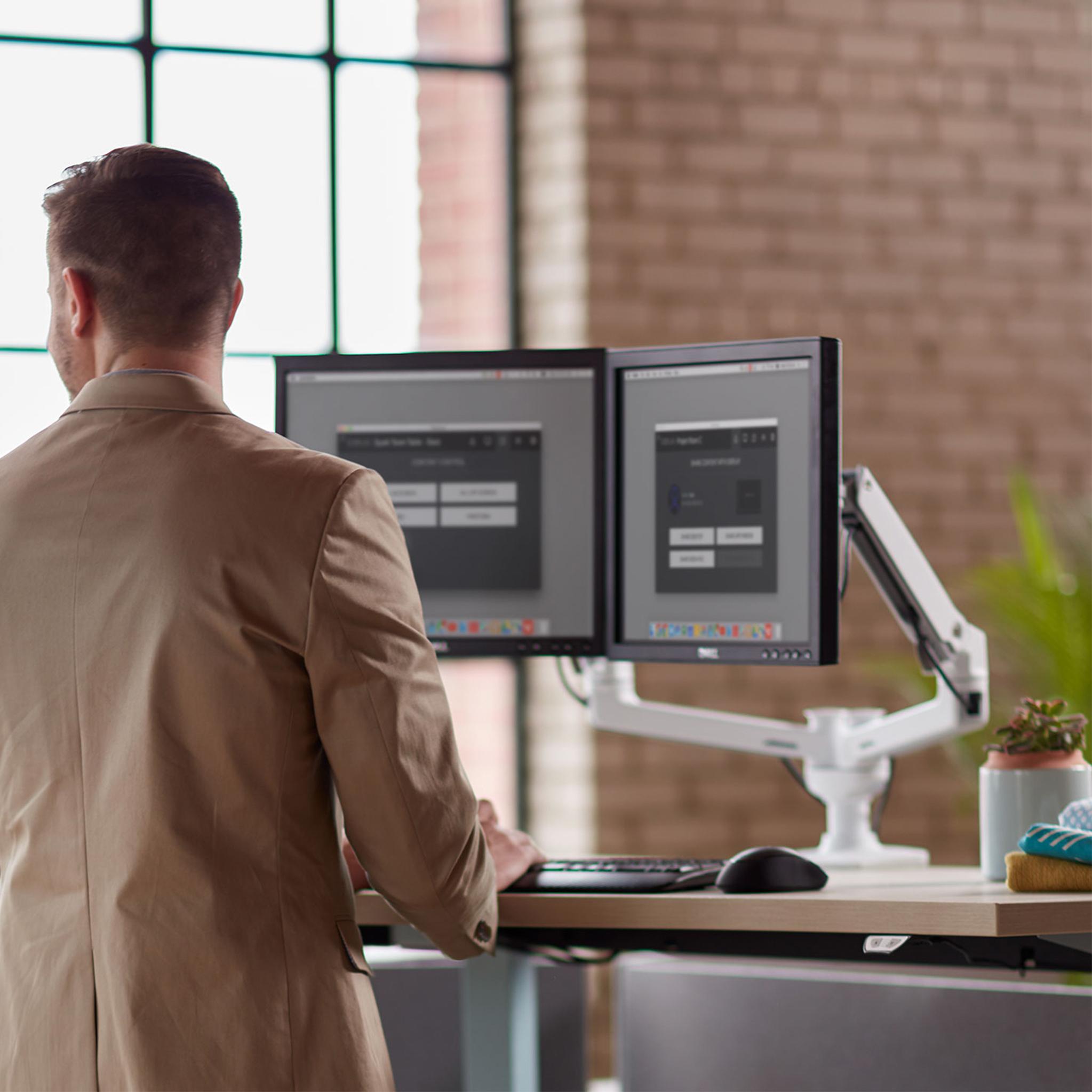 Ergotron LX Dual Side by Side Monitor Arm