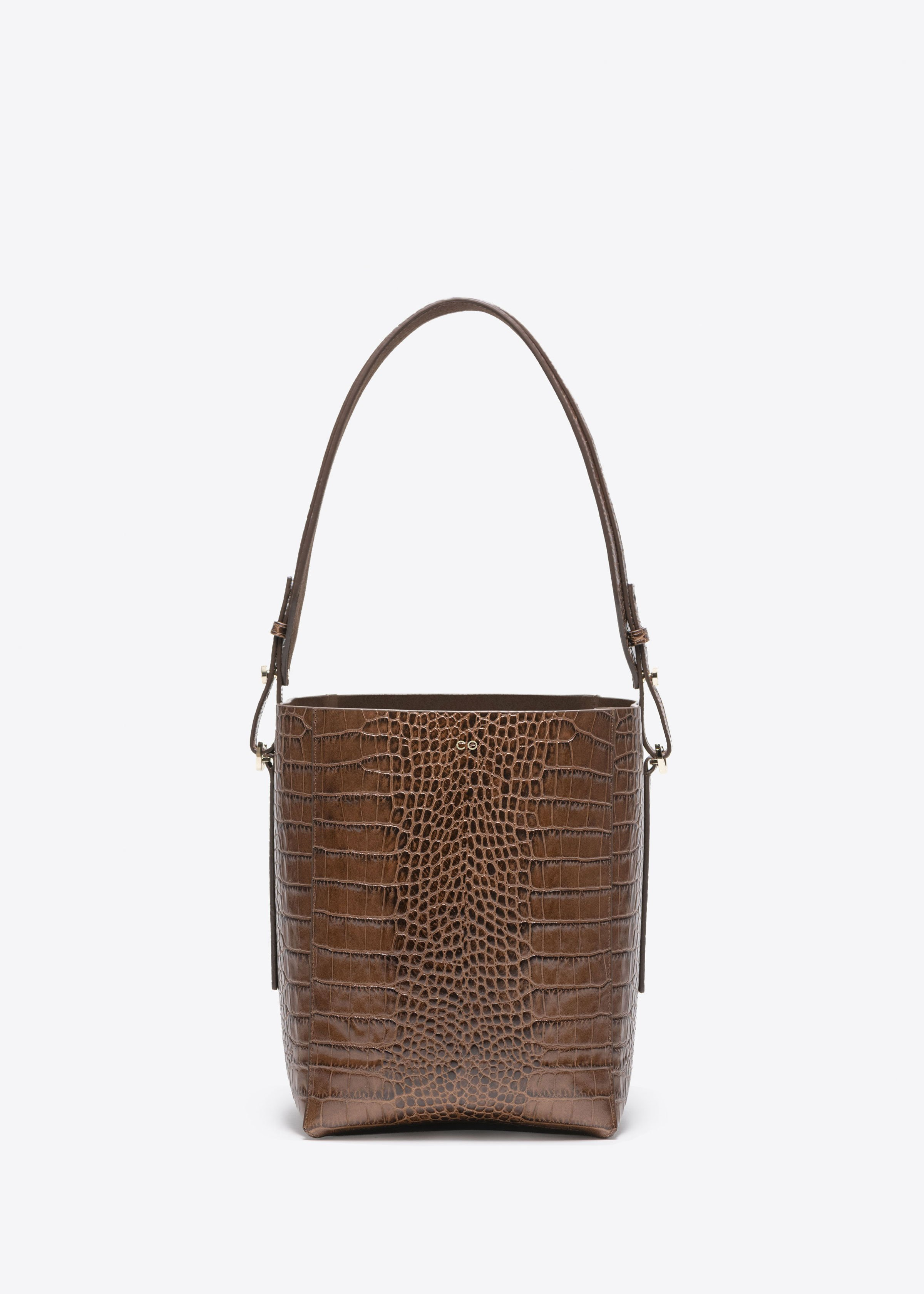Small Bucket Bag in Embossed Leather in  - Co Collections