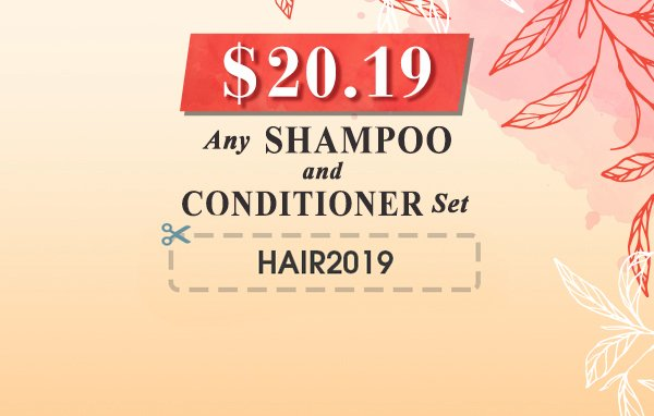 Shiny Leaf Shampoo and Conditioner Set Sale  - Only $20.19