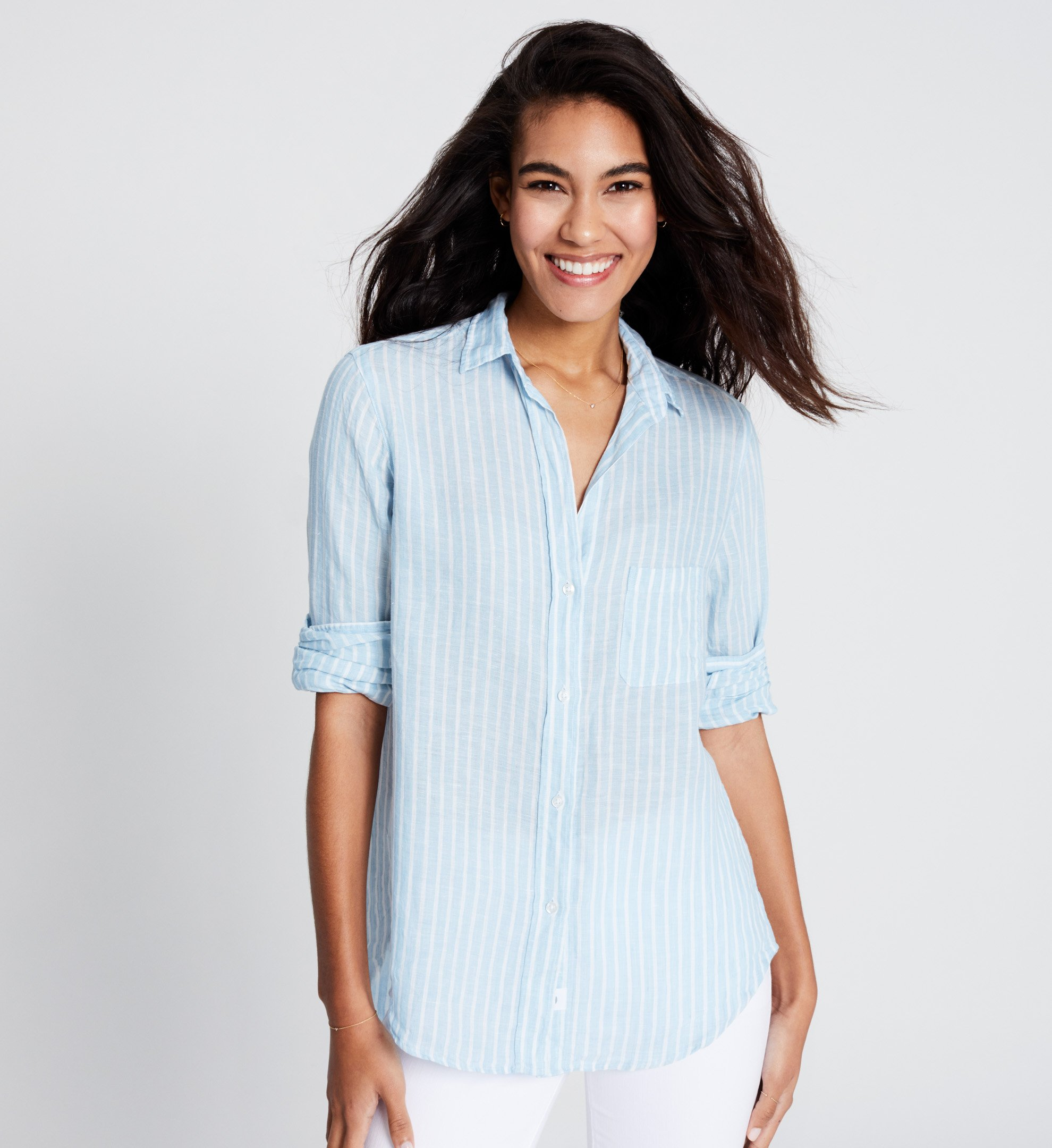 Image of The Hero Tumbled Linen Stripes