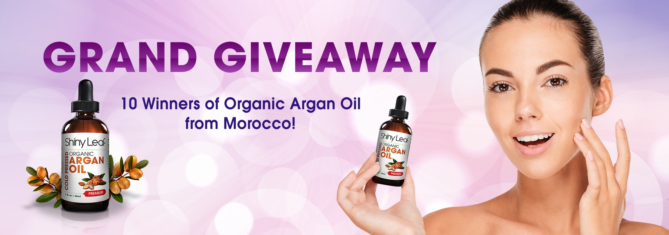 Shiny Leaf Argan Oil Grand Giveaway Part 1