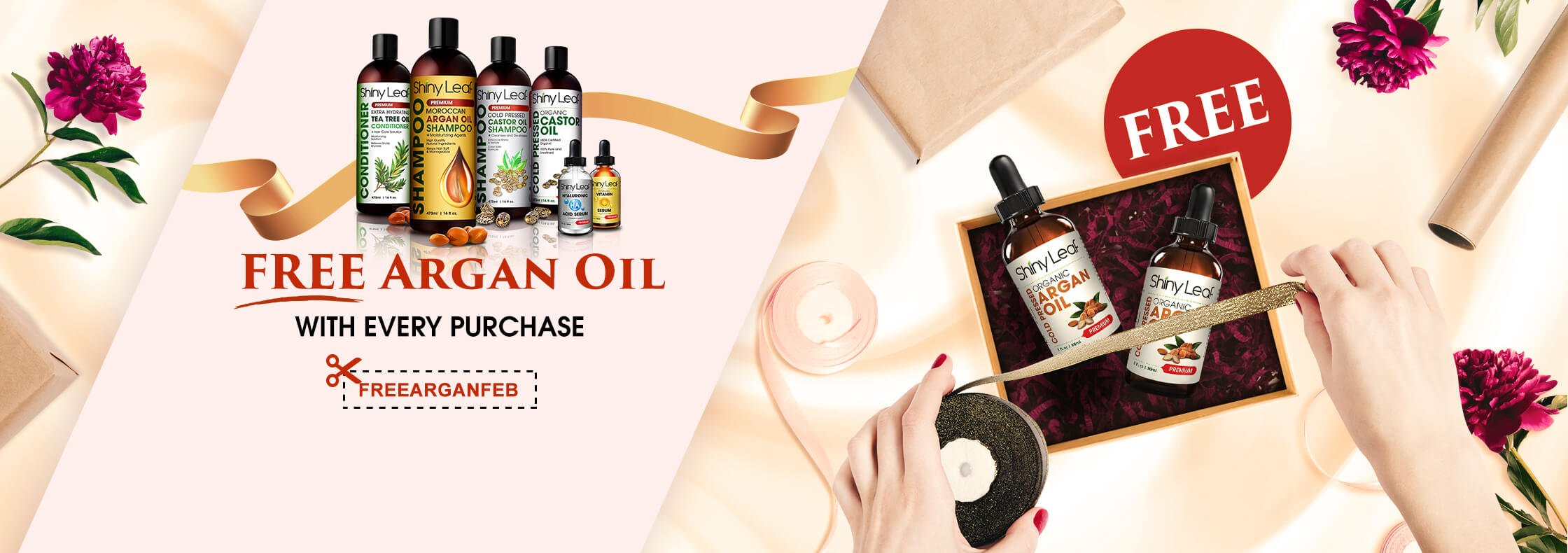 FREE Argan Oil for Every Purchase