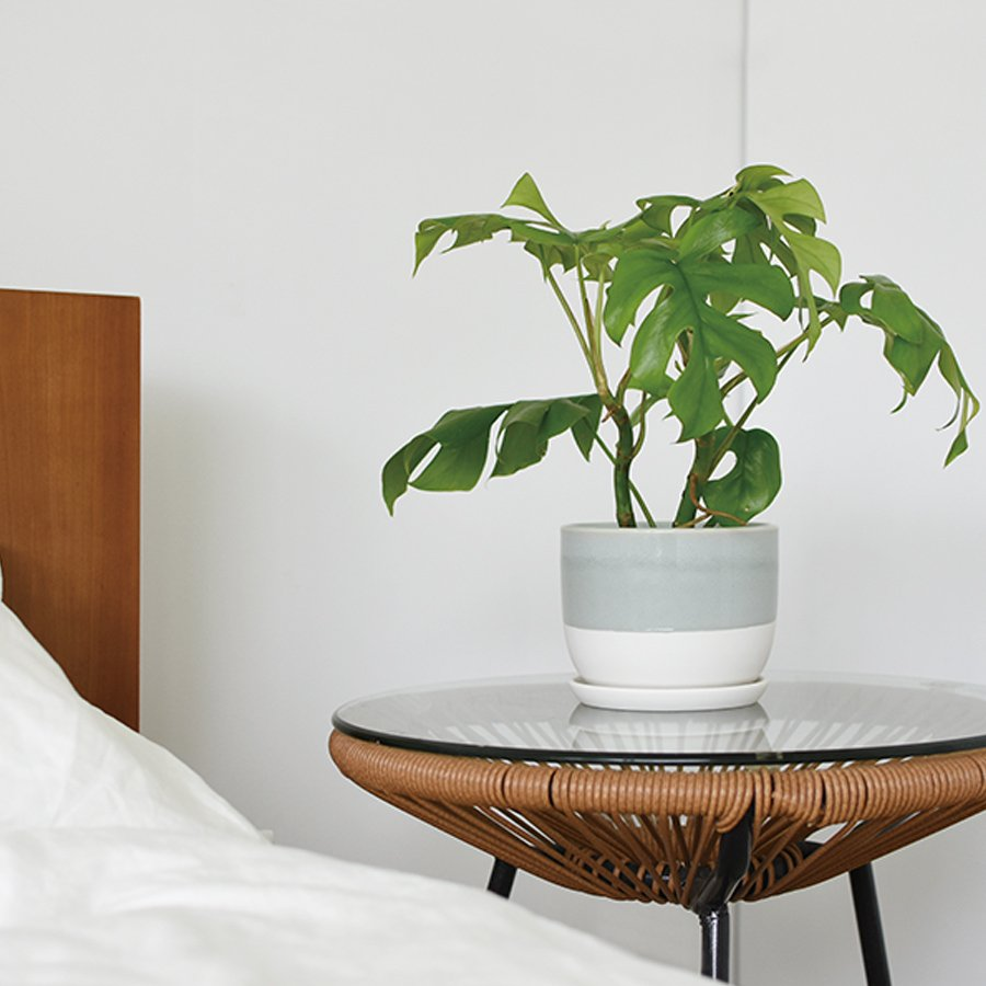 KINTO PLANT POT 193_ 140MM / 6IN BLUE GRAY