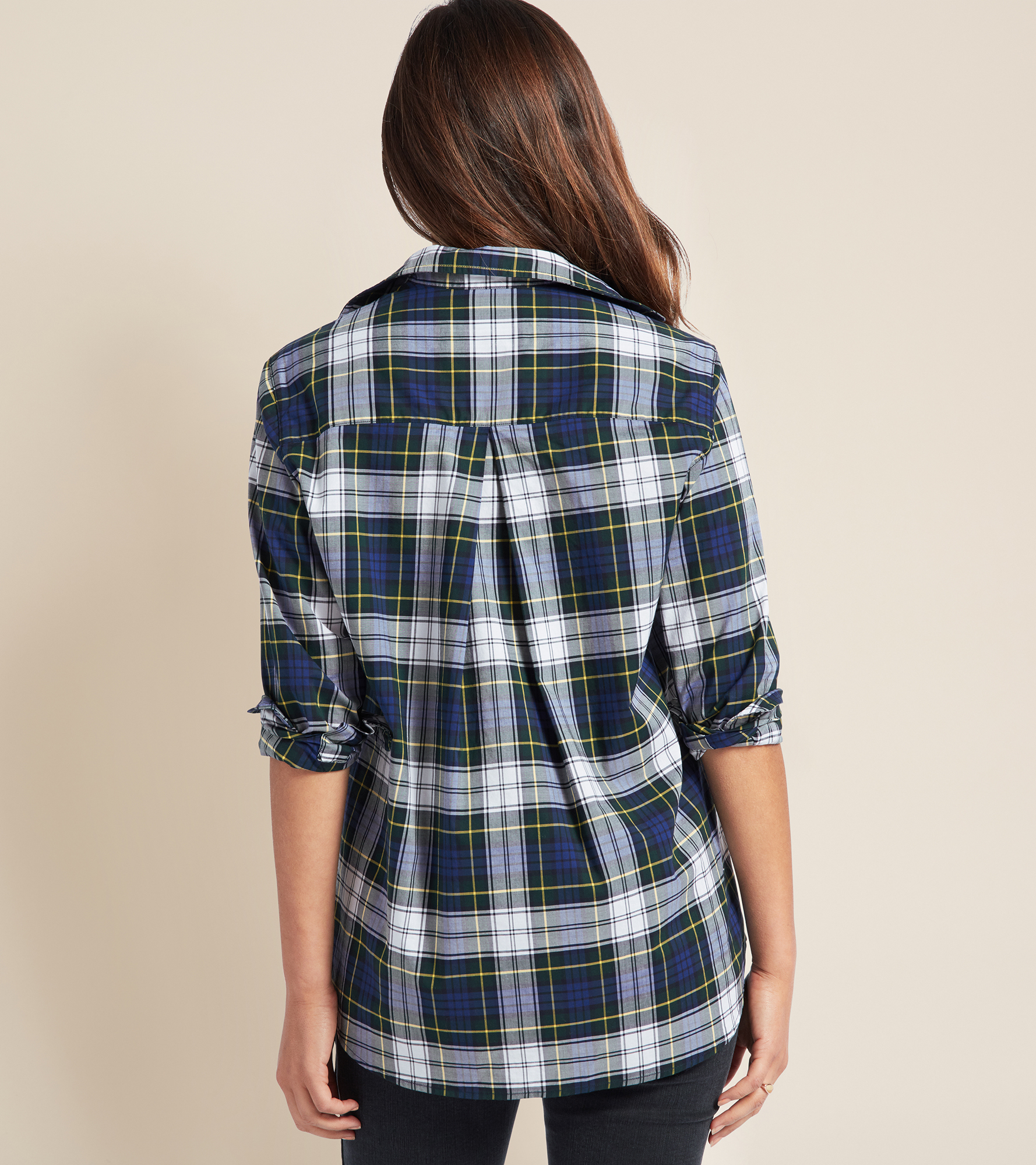 Image of The Hero Navy, White and Yellow Plaid, Cool Cotton Sale