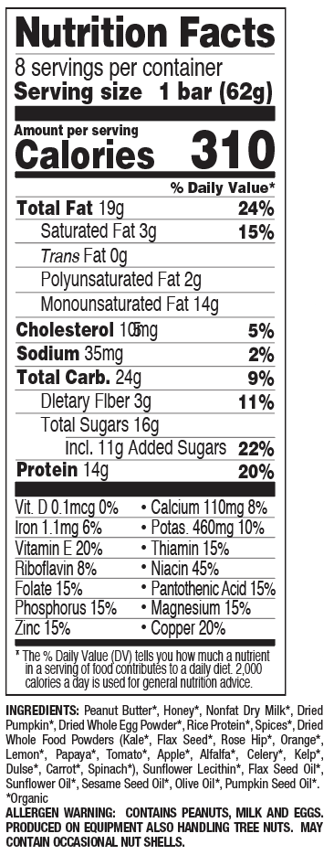 Pumpkin Pie nutritional information