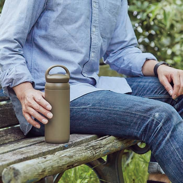 KINTO DAY OFF TUMBLER 500ML / 17OZ REPLACEMENT CAP  KHAKI
