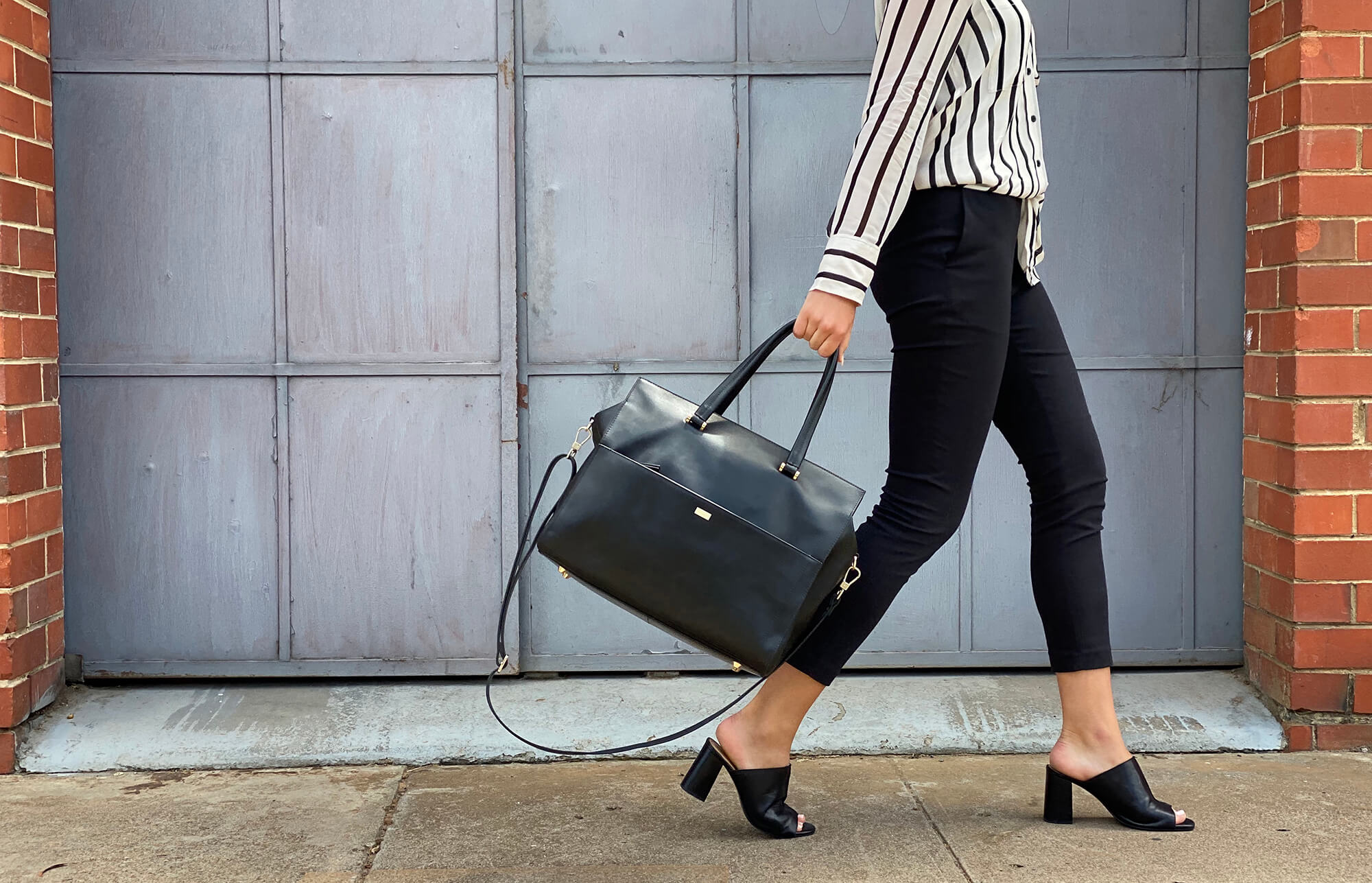 thumb-KINGSLEY CARRYALL + LAPTOP BAG - BLACK