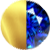 Gold|Blue Saphire Diamondettes Swatch