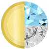 Gold|MARCH Aquamarine|White Diamondettes Swatch
