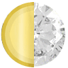 Gold|APRIL Diamond|White Diamondettes Swatch