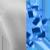 ICONS Mini Heart Necklace Charm Gold|Light Blue Diamondettes