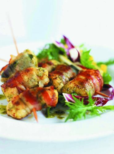Chicken Bocconcini with Coriander Pesto