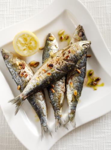 Basil Pesto Sardines