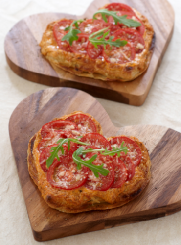 Tomato, Chilli Pesto and Mascarpone Valentine Tarts