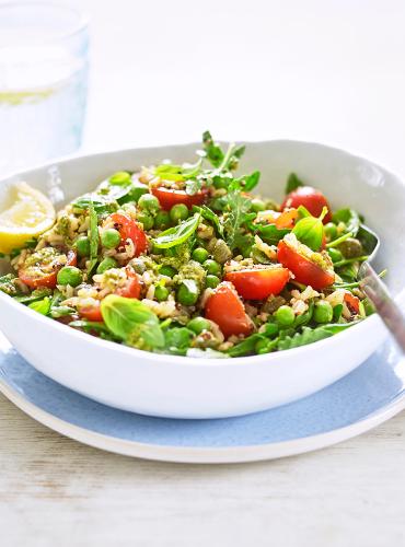 Rice & Quinoa Salad with Basil Sacla' Pesto