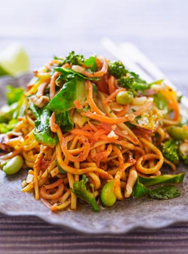 Vegetable Stir-Fry with Chilli Pesto