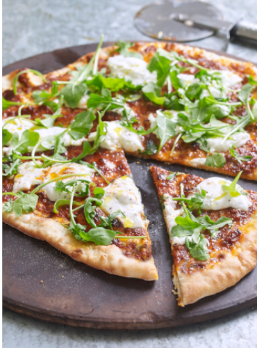 'Nduja Pizza with Burrata & Rocket