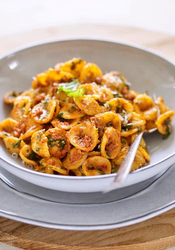 Pasta with 'Nduja Pesto & Kale