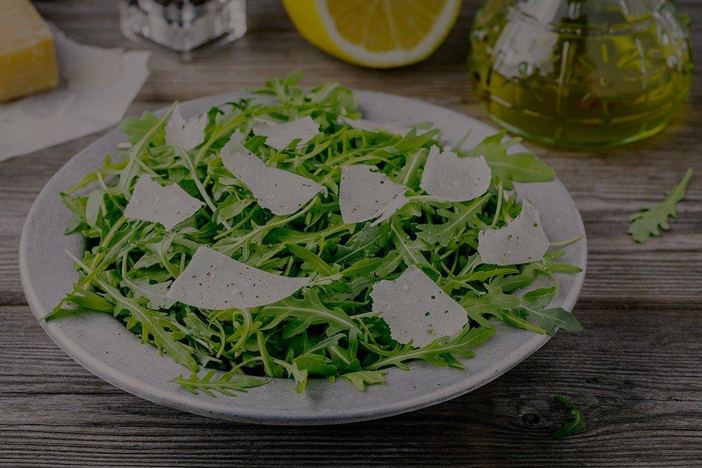 Arugula Salad with Parmesan, Lemon & Olive Oil