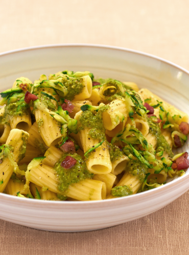 Rigatoni with Speedy Grated Courgette Sauce
