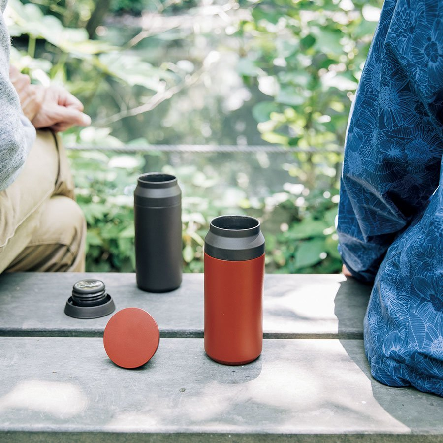 KINTO TRAVEL TUMBLER 350ML LID RED