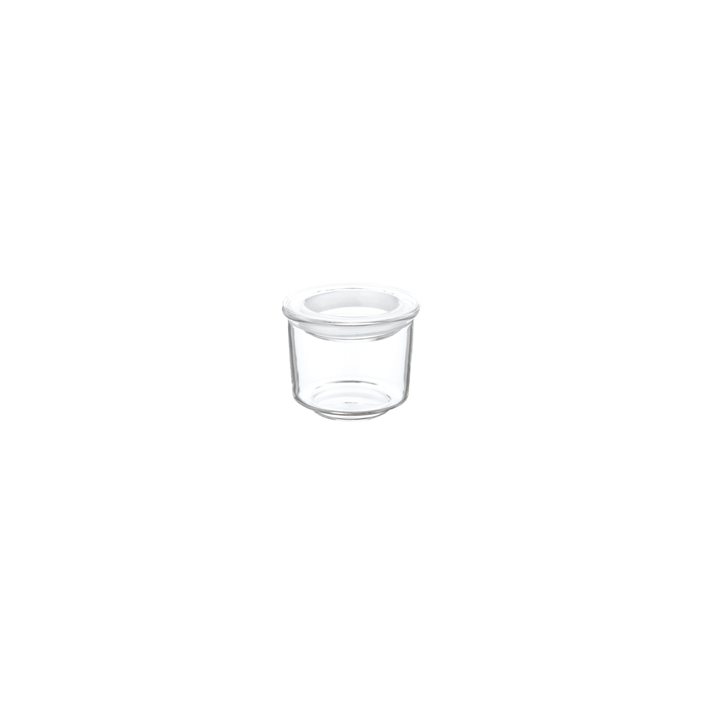 KINTO CAST Φ60 GLASS LID CANISTER SHORT  CLEAR