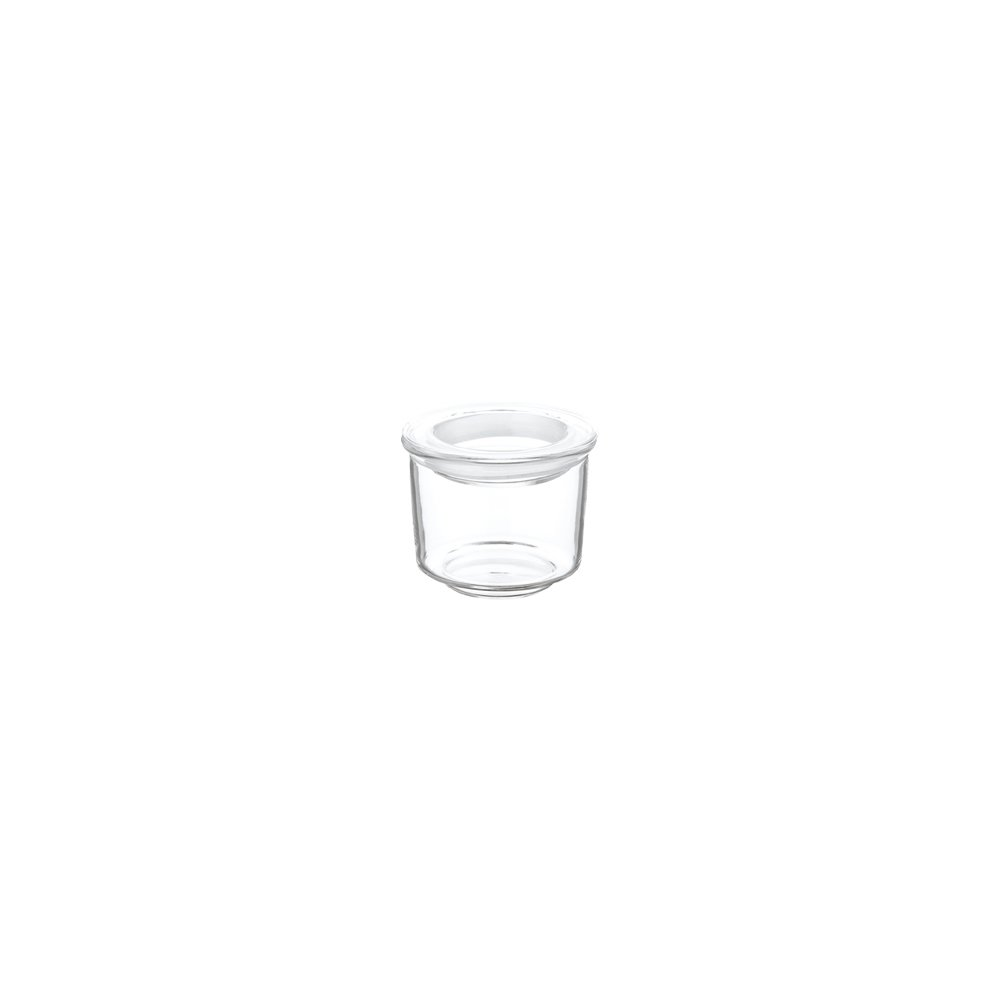 KINTO CAST Φ60 GLASS LID CANISTER SHORT CLEAR THUMBNAIL 1