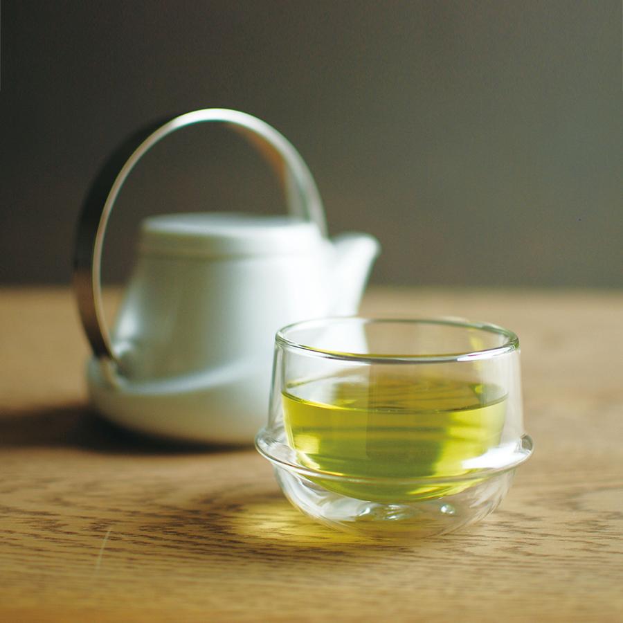 KINTO KRONOS DOUBLE WALL TEA CUP CLEAR