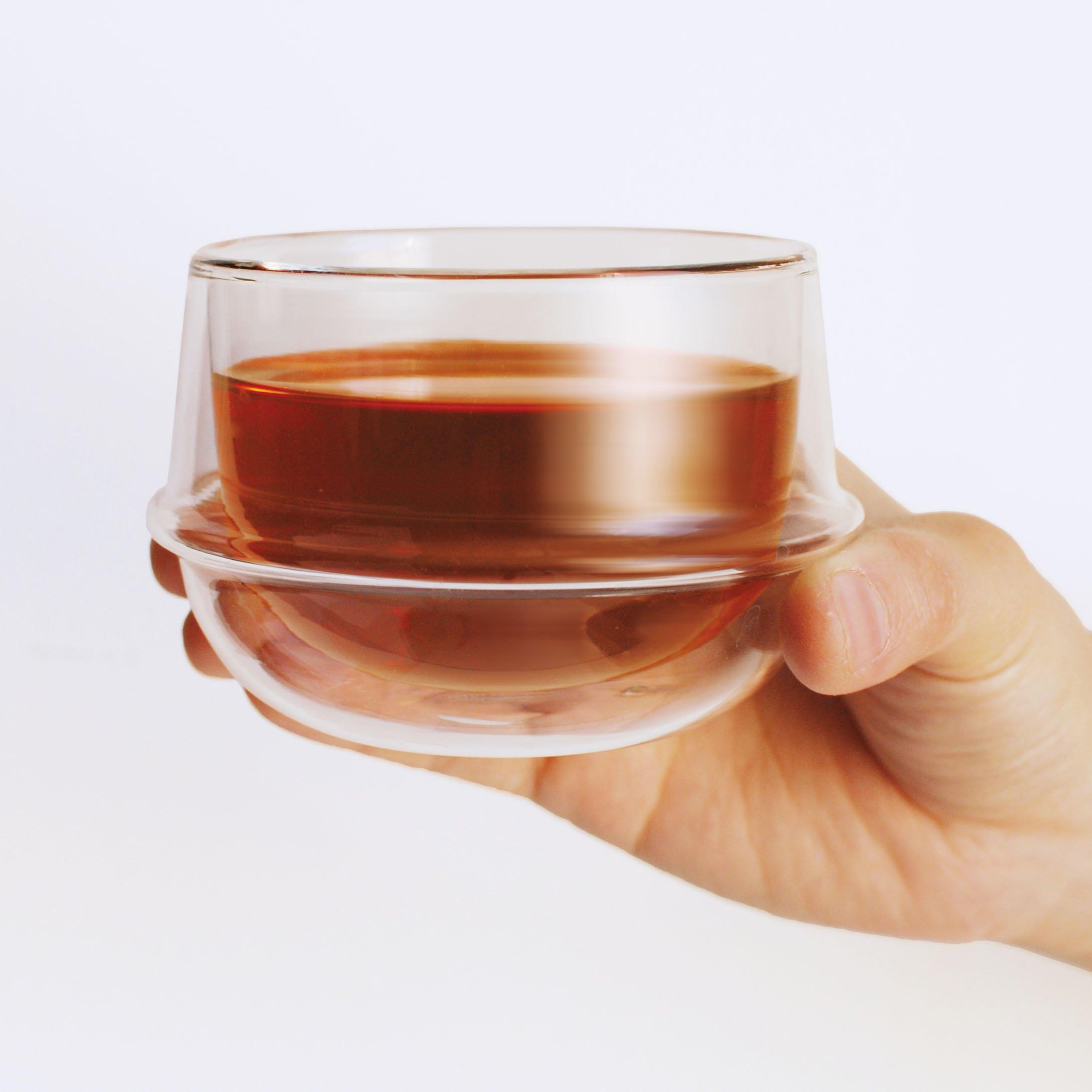 KINTO KRONOS DOUBLE WALL TEA CUP CLEAR THUMBNAIL 2