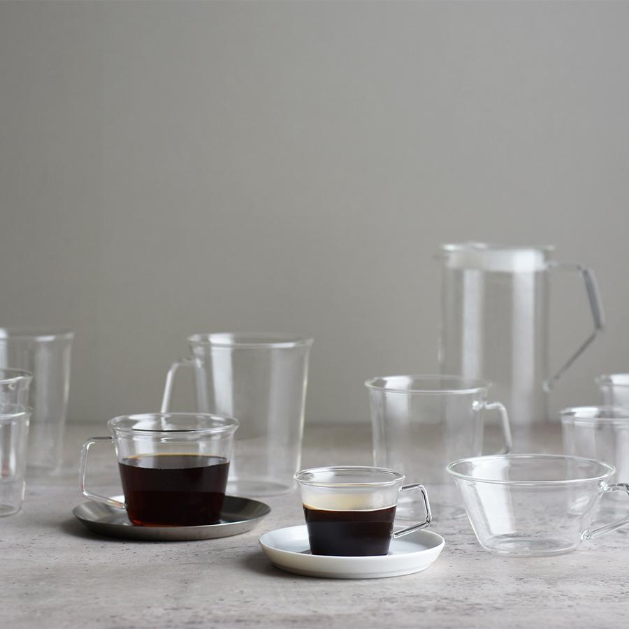 KINTO CAST CAFE LATTE MUG CLEAR