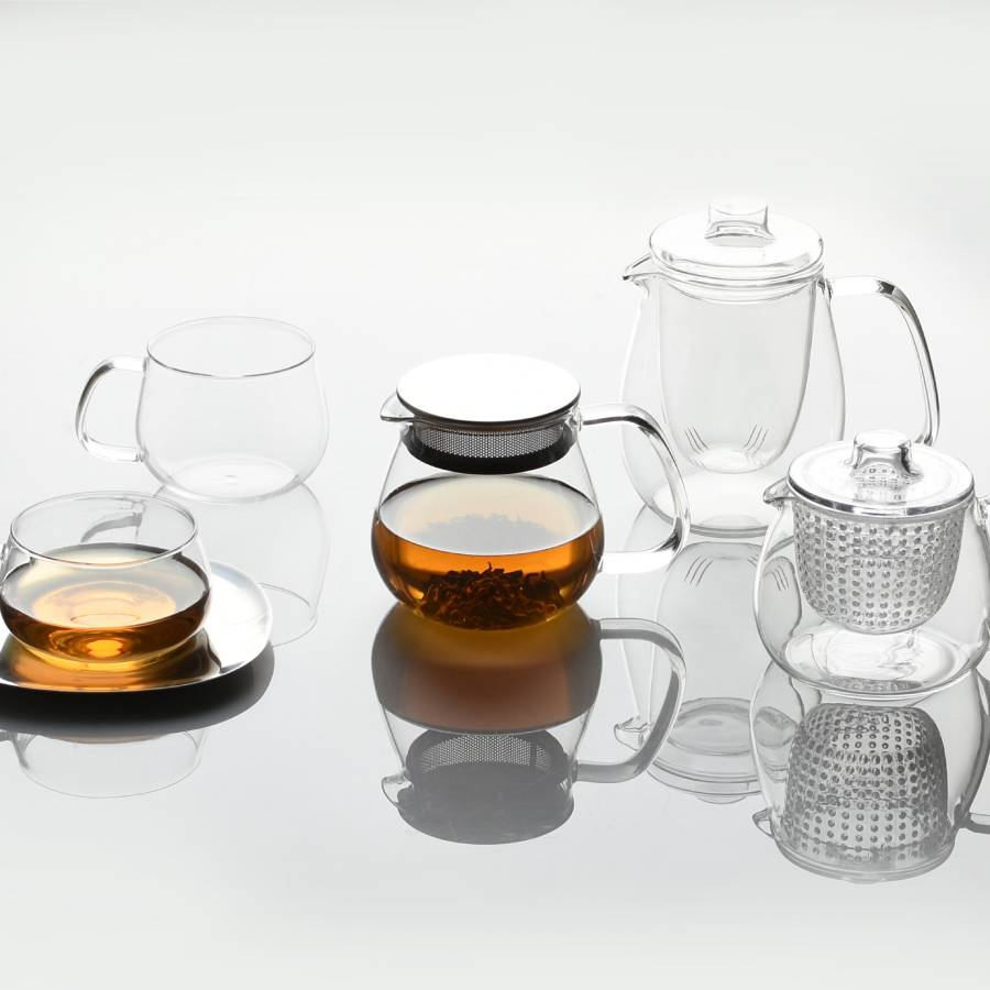KINTO UNITEA TEAPOT SET SMALL PLASTIC CLEAR THUMBNAIL 3