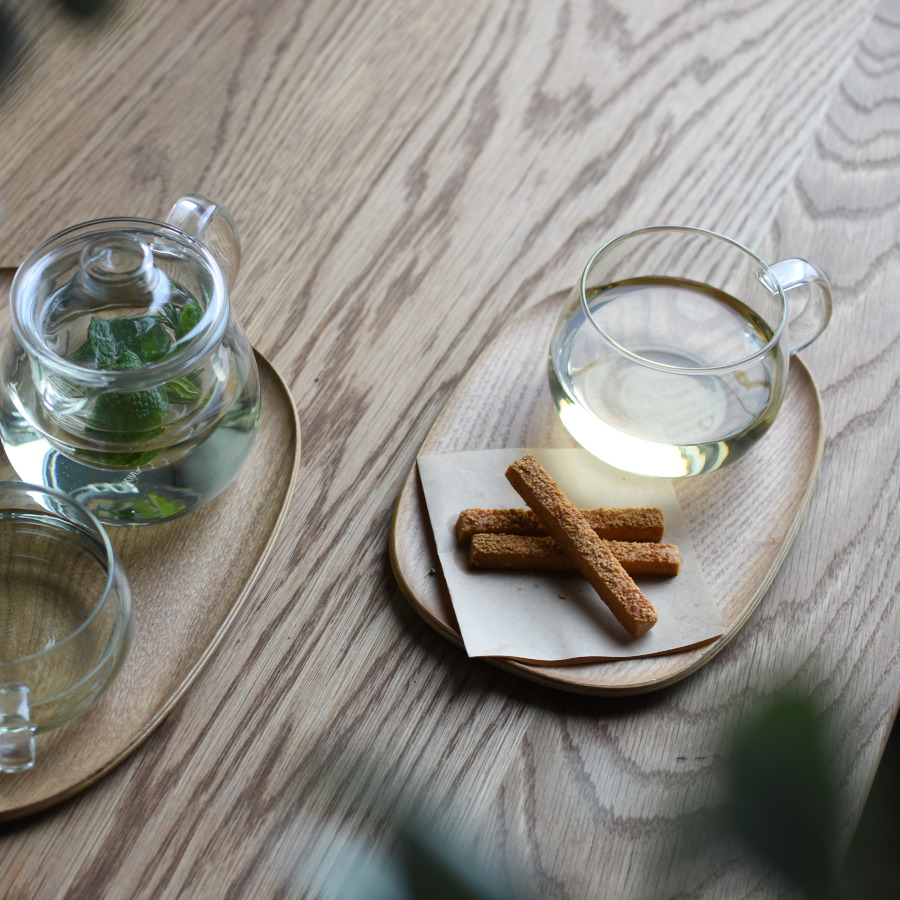 KINTO UNITEA TEAPOT SET SMALL GLASS CLEAR
