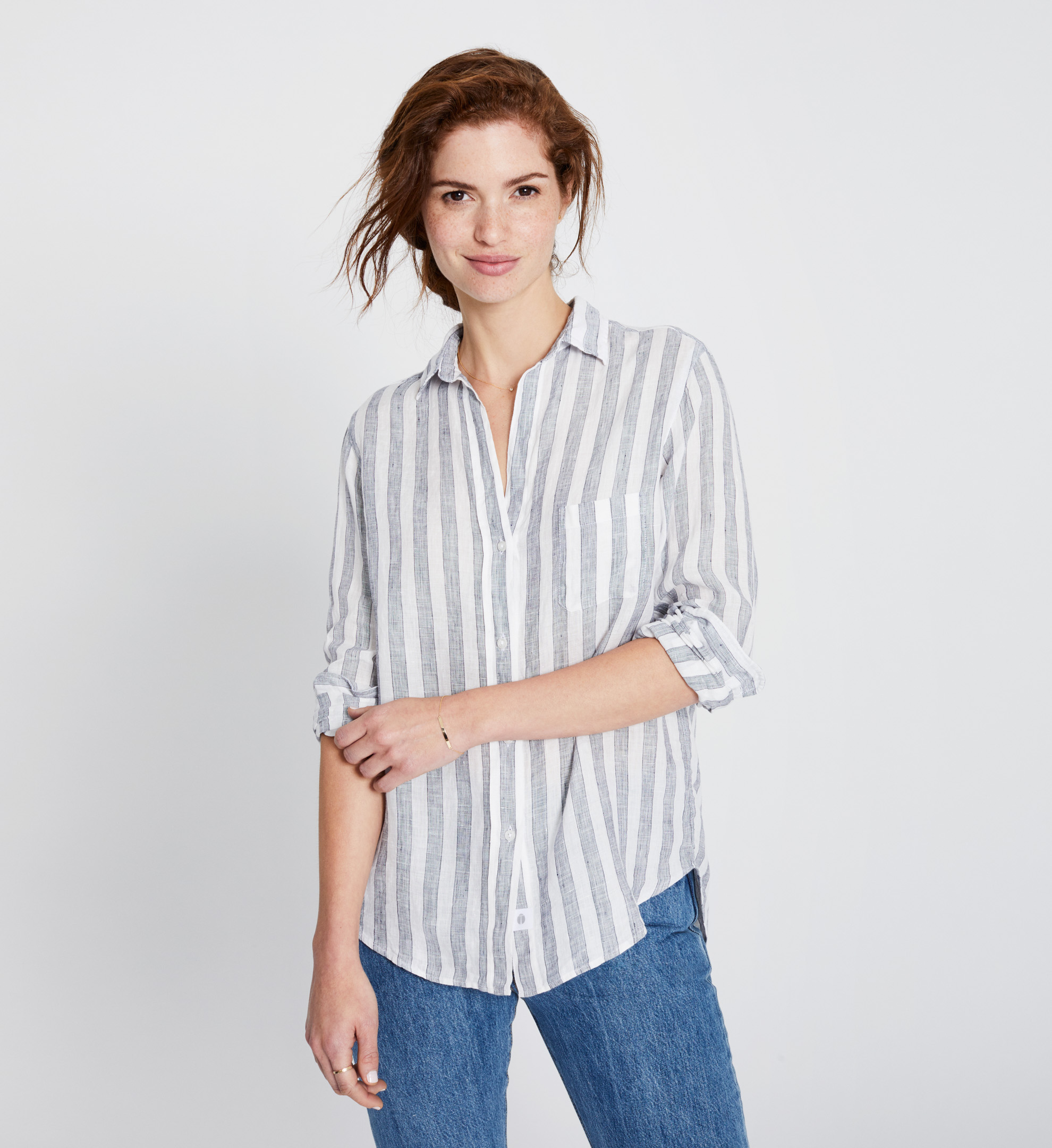 Image of The Hero Tumbled Linen Stripes Sale