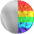 ICONS Necklace Grande Lightning Bolt Charm Silver|Rainbow Diamondettes