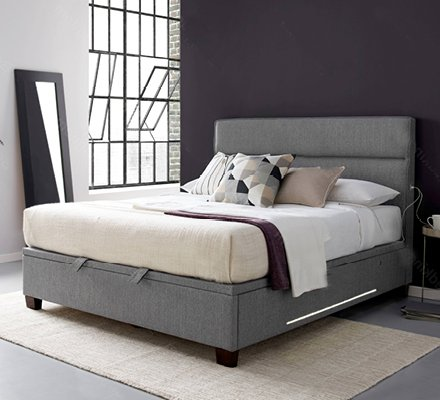 Kaydian Chilton Ottoman: USB Bed Frame With Lights