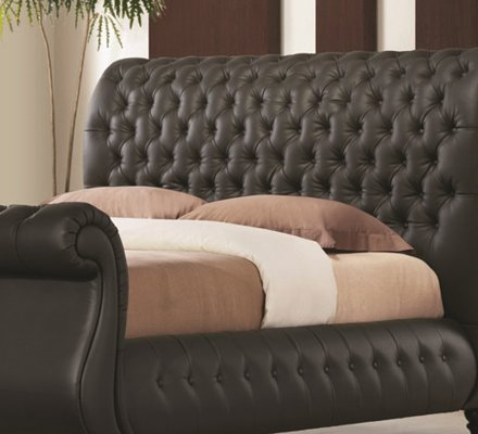 Swan Real Leather Bed Frame