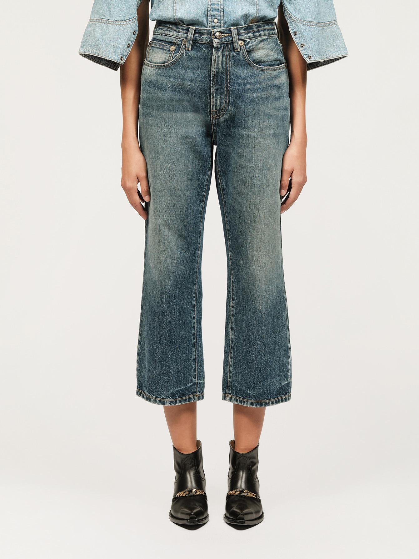 Washed denim boyfriend jeans Small Image 2