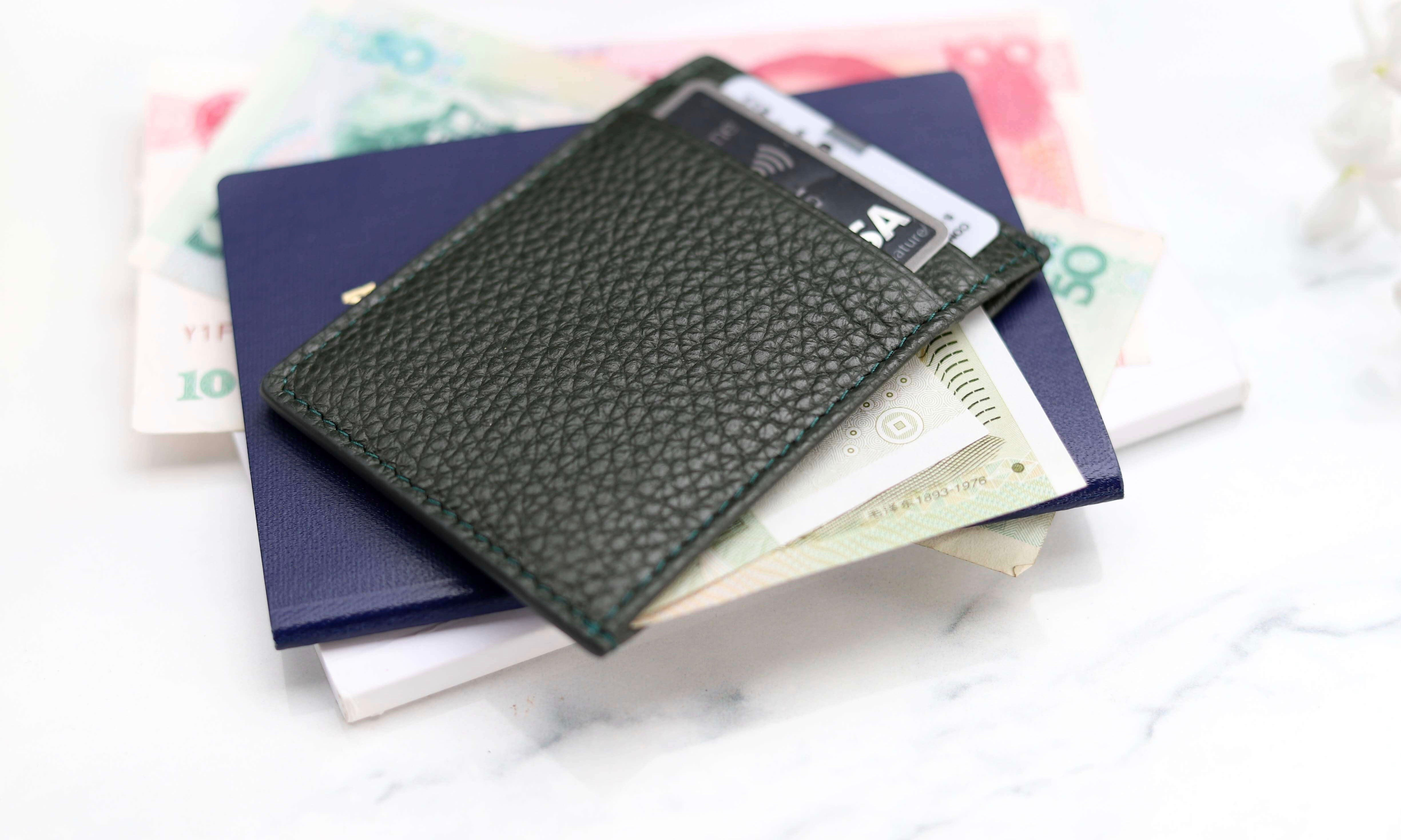 thumb-THP X KINNON CARD HOLDER - OLIVE GREEN
