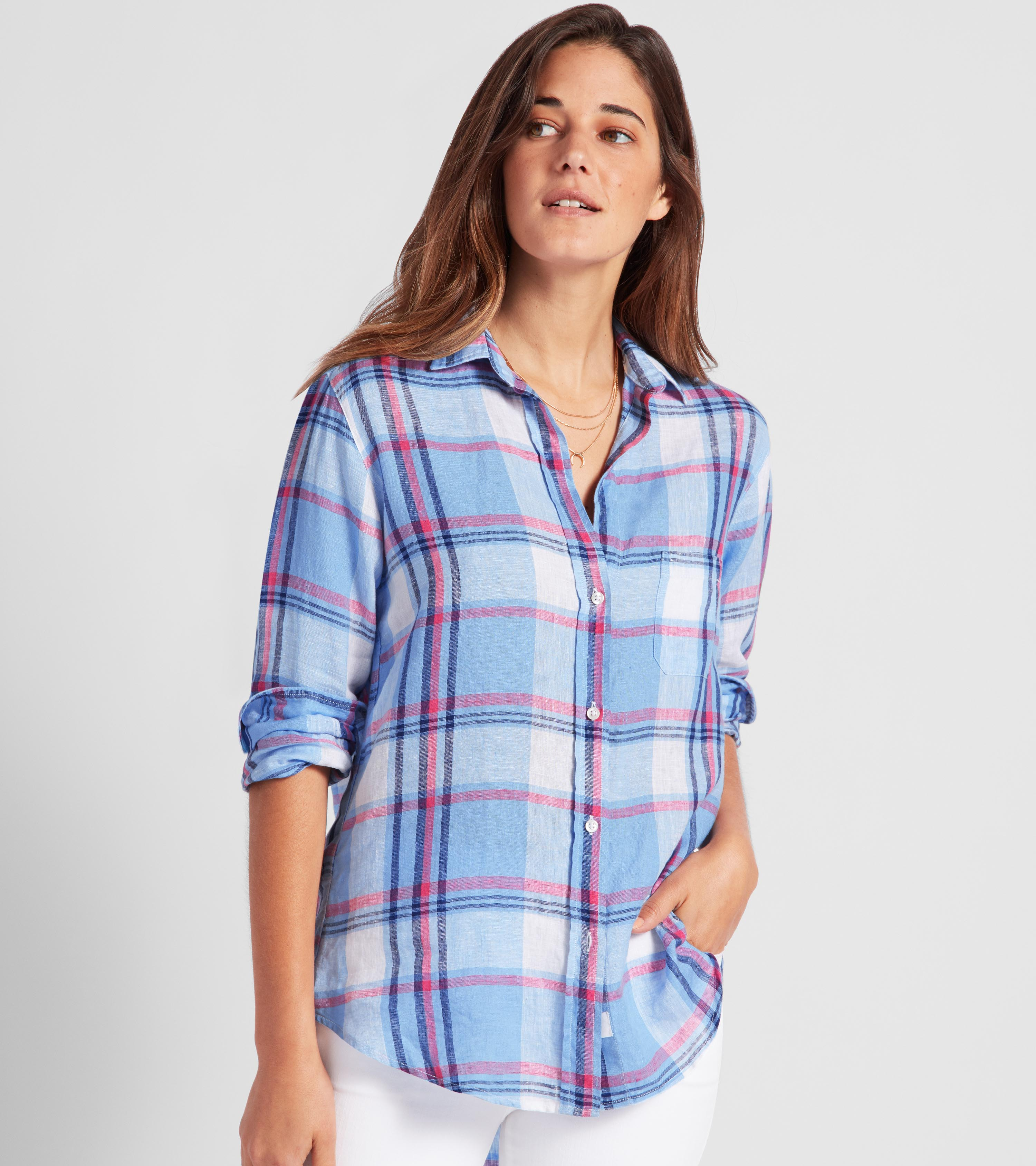 Image of The Hero Tumbled Linen Plaids Sale