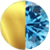 Gold|Light Blue Diamondettes Swatch
