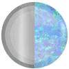 Silver|Blue Opal Swatch