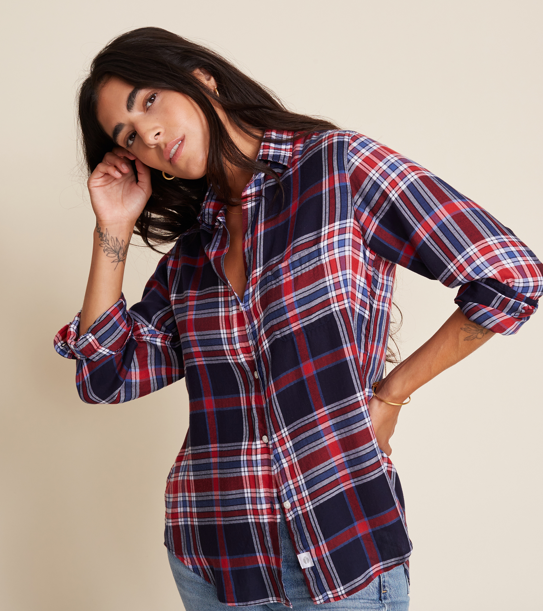 Image of The Hero Red and Blue Plaid, Liquid Flannel