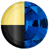Gold|Black Metal|Blue Sapphire Swatch