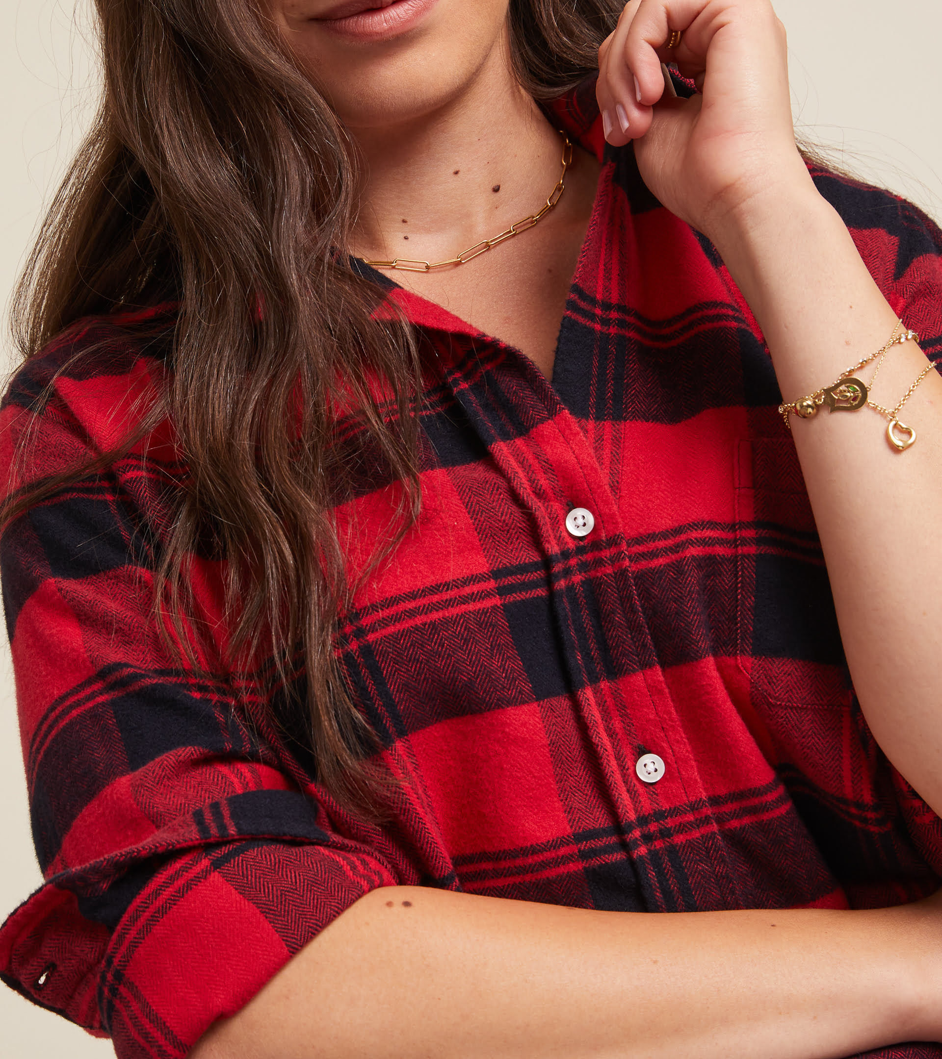 The Hero Red with Black Plaid, Plush Flannel view 2